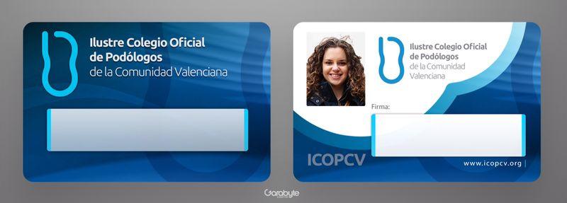 Carnet de colegiado Colegio Podólogos Comunidad Valenciana