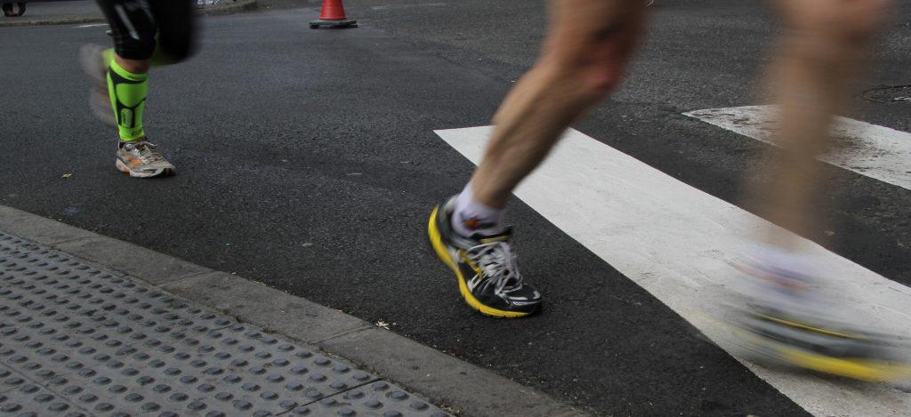 Movimiento del pie al correr